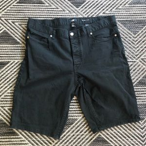 Black Men's Jean Shorts